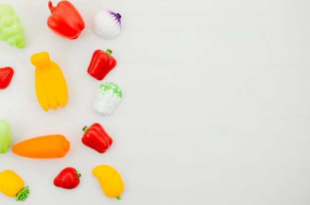 子供のための平干し野菜のおもちゃ 無料写真