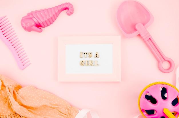 Плоские детские игрушки с рамкой Бесплатные Фотографии