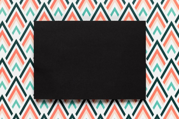 黒封筒結婚式招待状フラットレイアウト 無料写真