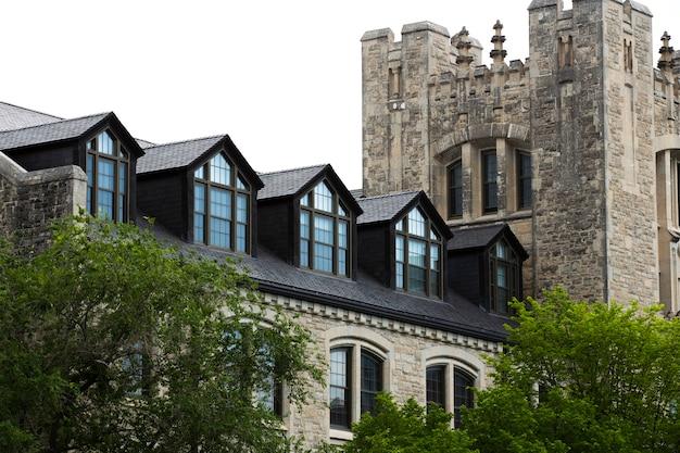 美しい古い家と城のデザイン 無料写真