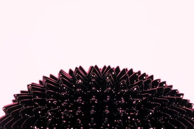 ピンクの背景にコピースペースを持つ強磁性液体金属 無料写真