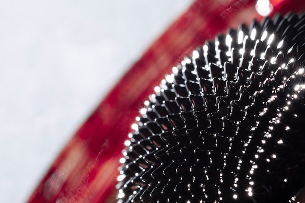 背景をぼかしたクローズアップ強磁性金属 無料写真