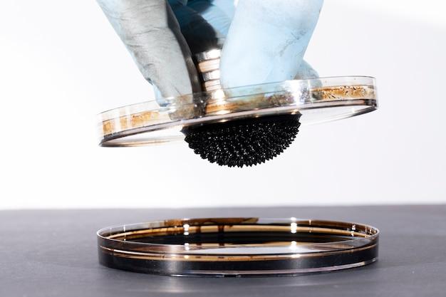 強く磁化された強磁性流体物質 無料写真