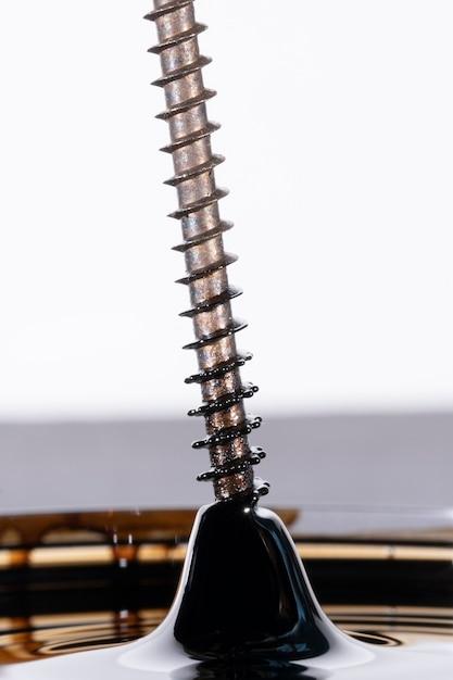 磁気現象を伴うステンレス鋼のドリルねじ 無料写真