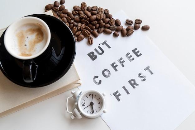 Но кофе первая цитата с часами Бесплатные Фотографии