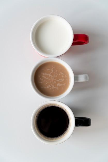 Вкусный кофе сверху в деградации Бесплатные Фотографии