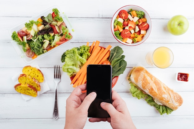 おいしい健康食品トップビュー 無料写真