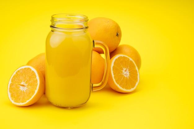 オレンジから作られたおいしいジュース 無料写真