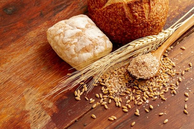 パンと種の高いビュー 無料写真