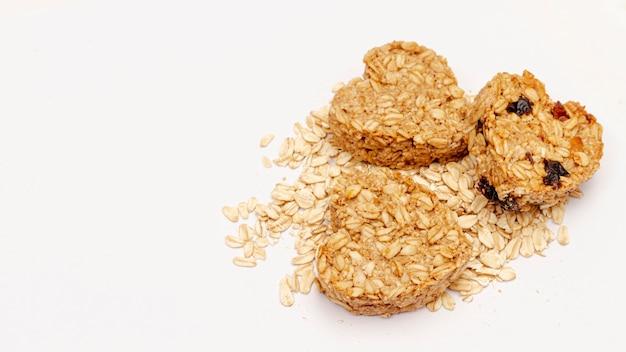 ハート形の穀物のトップビュー 無料写真