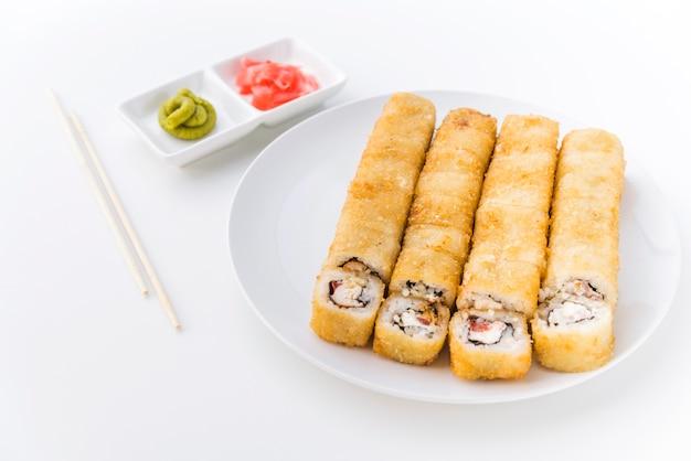 わさび入りアングルショット寿司 無料写真