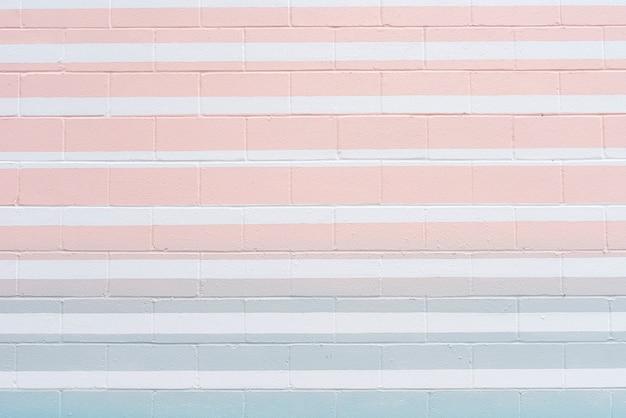 色付きの線で抽象的なレンガの壁 無料写真