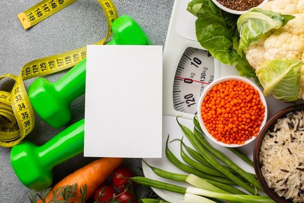 コピースペースを持つ野菜のフラットレイアウト 無料写真