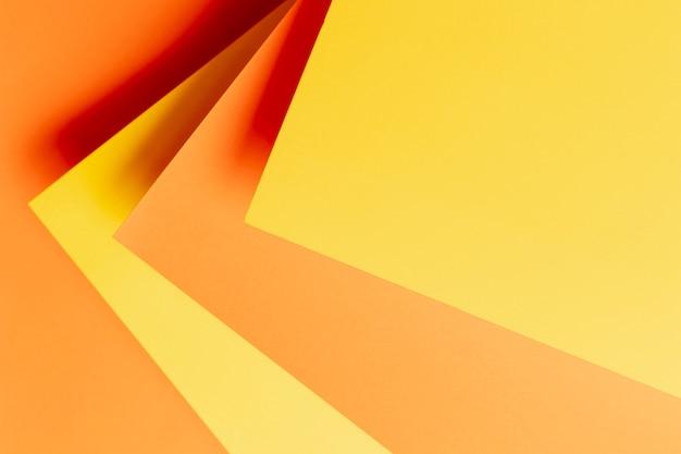 オレンジ色のクローズアップの色合いとフラットレイアウトパターン 無料写真