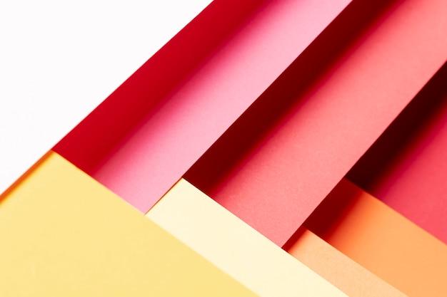 フラット横たわっていた暖かい色パターンのクローズアップ 無料写真