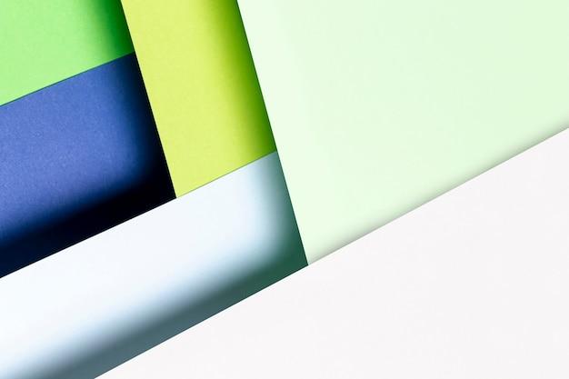 フラット横たわっていたクールな色パターンのクローズアップ 無料写真