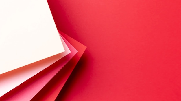 Шаблон красных оттенков с копией пространства Бесплатные Фотографии