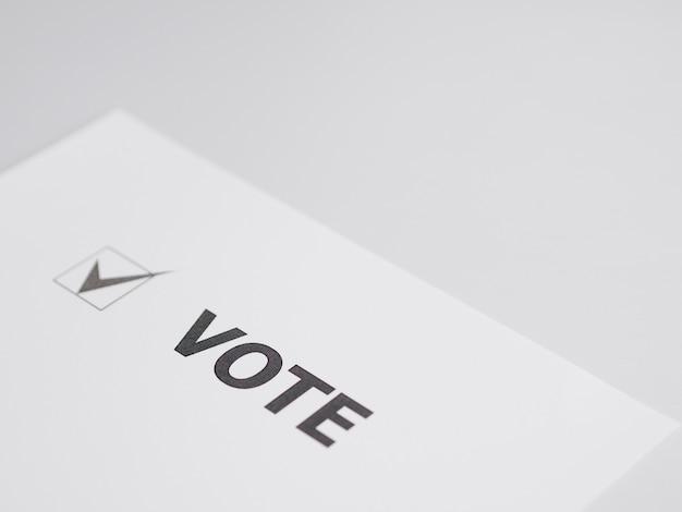 Флажок для голосования под большим углом Бесплатные Фотографии