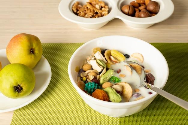 新鮮な朝食の手配を閉じる 無料写真