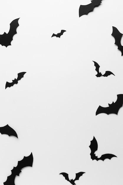 Жуткий хэллоуин летучих мышей крупным планом Бесплатные Фотографии