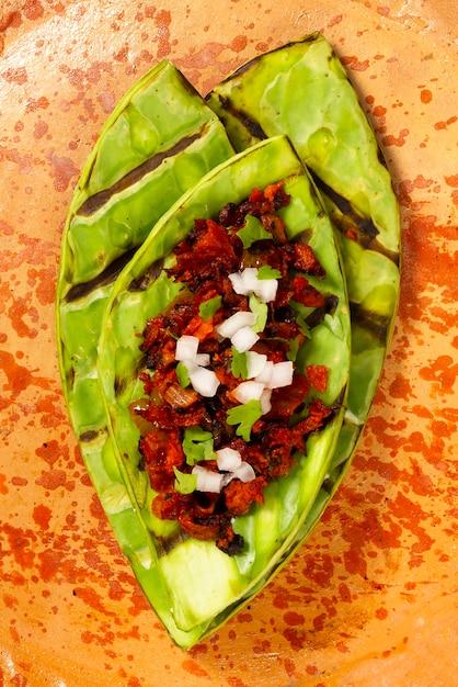 トップビューメキシコの伝統的な料理 無料写真