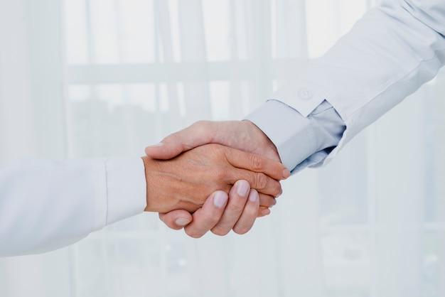 握手のクローズアップ医師 無料写真