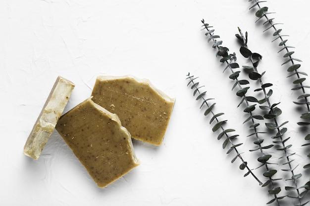 自然治療のためにスパで使用されるフレーバー石鹸 無料写真