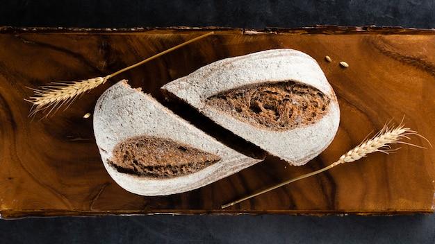 パンと小麦のトップビュー 無料写真