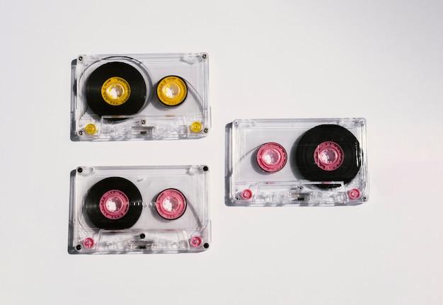 透明テープコレクショントップビュー 無料写真