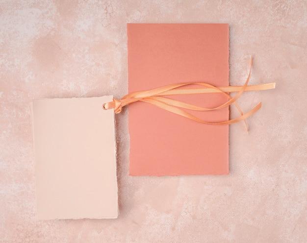 シンプルな結婚式の招待状の手配 無料写真