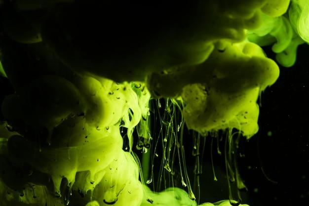 緑の雲と美しい構図 無料写真