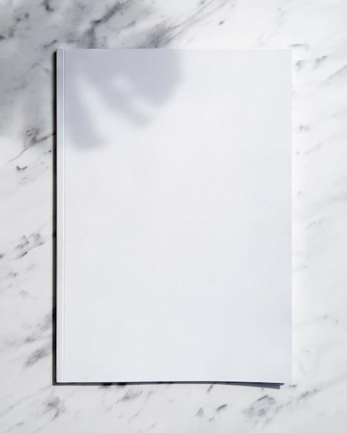 Вид сверху макет журнала с белым фоном Бесплатные Фотографии