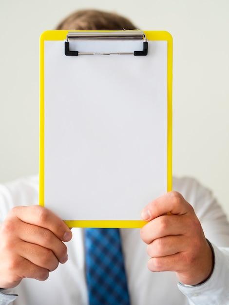Макро рука макет буфера обмена Бесплатные Фотографии
