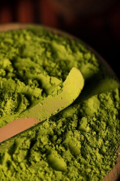 緑茶抹茶のクローズアップ 無料写真
