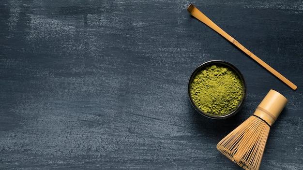 抹茶と抹茶のセット 無料写真