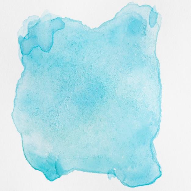 白い背景の上の水彩液体ブルーはね 無料写真