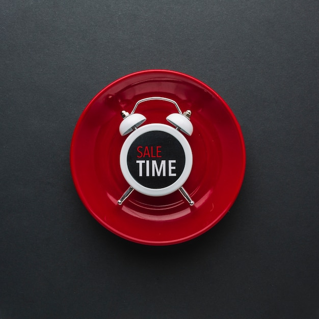 フラットレイアウトの目覚まし時計を割引します。 無料写真