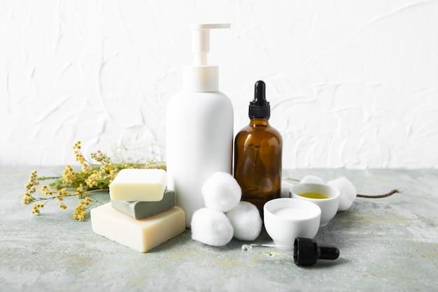 Вид спереди по уходу за телом натуральных продуктов Бесплатные Фотографии