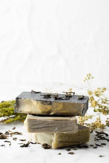 Домашнее мыло с копией пространства Бесплатные Фотографии