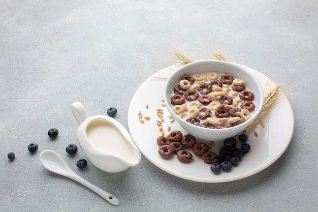 Крупным планом вкусная каша с молоком Бесплатные Фотографии