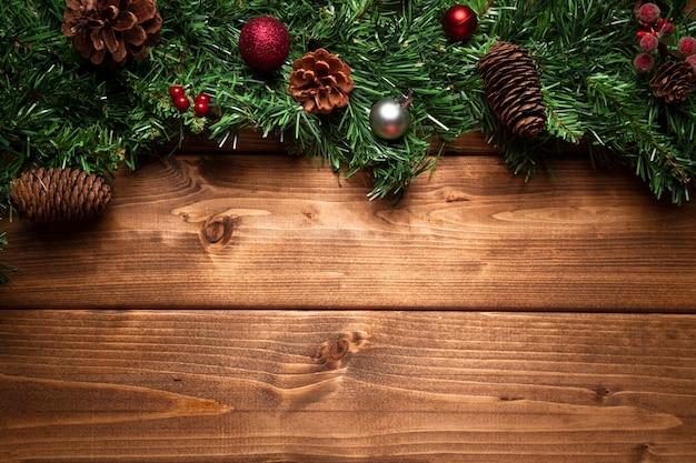 Вид сверху рождественские украшения с копией пространства Бесплатные Фотографии