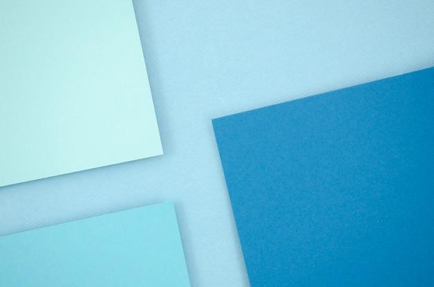 青い最小限の幾何学的形状と線 無料写真