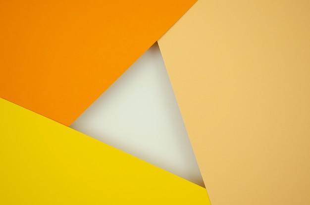 Градиент оранжевого абстрактная композиция с цветной бумагой Бесплатные Фотографии