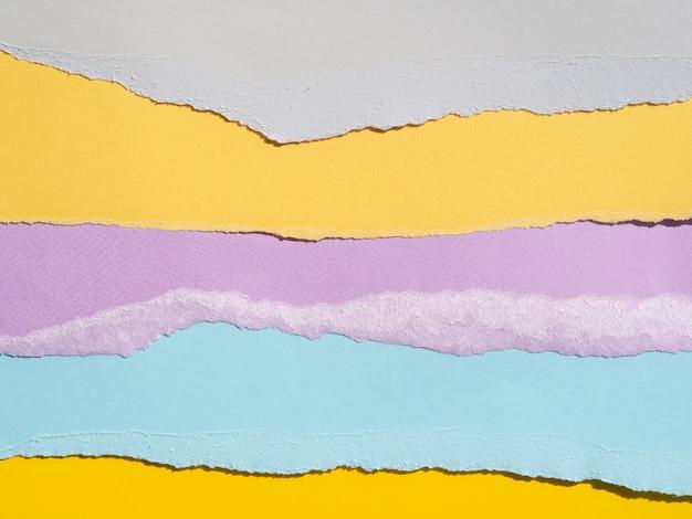 Разнообразие абстрактных композиций с цветными бумагами Бесплатные Фотографии