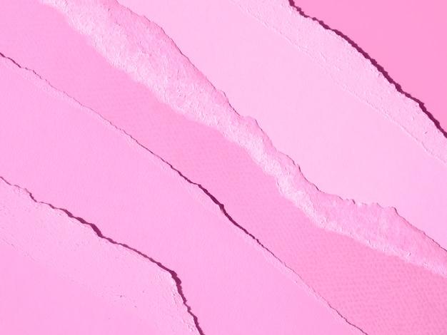 破れた抽象的な紙のラインのグラデーションピンク 無料写真
