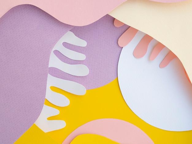 紙の幾何学的な背景の波 無料写真