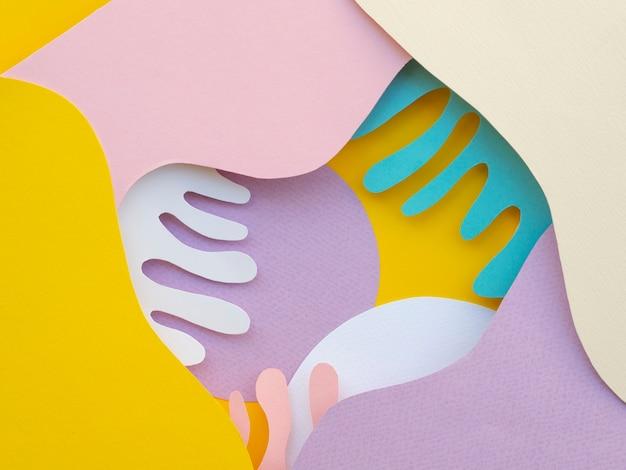 Вид сверху абстрактные бумажные волны Бесплатные Фотографии