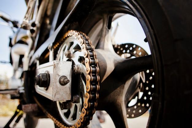 Закройте детали колеса мотоцикла Бесплатные Фотографии