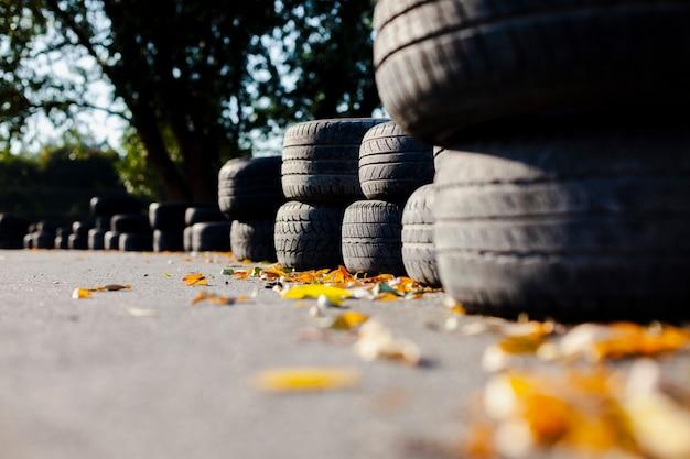 タイヤのラインを閉じる 無料写真