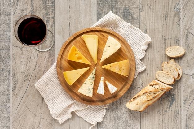 パンとチーズのトップビュースライス 無料写真